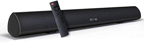 Sound Bar, BYL Soundbar for TV, Wired Wireless Bluetooth 5.0 Speaker, Home Theater Surround Sound System 28 Inch, Infrad Remote Control, DSP, Bass Adjustable Renewed