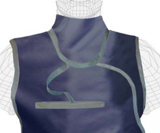 Regular Lead X-Ray Thyroid Collar, Standard Attached, 0.5mm Pb, Buckle Closure by Colortrieve