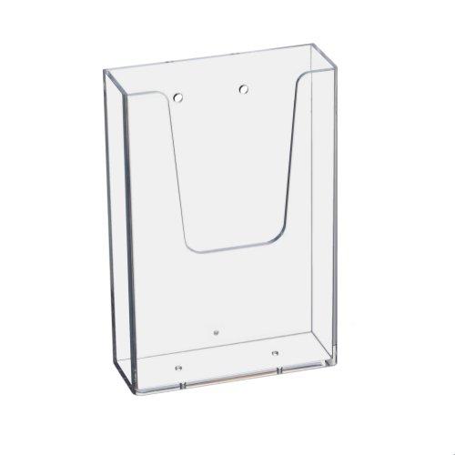 Prospekthalter Wand Din Lang (99x210mm) Hochformat / Flyerhalter transparent