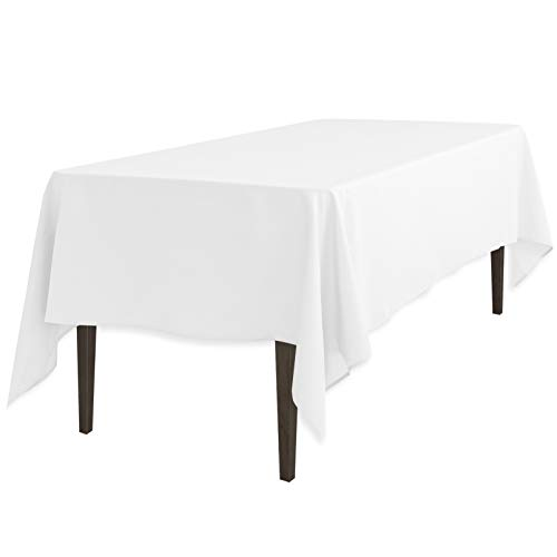 - LinenTablecloth 60 x 126-Inch Rectangular Polyester Tablecloth White
