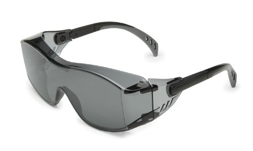 Gateway Safety 6983 Cover2 Safety Glasses Protective Eye Wear - Over-The-Glass (OTG), Gray Lens, Black Temple