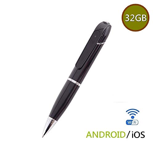 1080p Mini Dvr - INJATek 32GB Spy Camera Pen WiFi HD 1080P Mini DVR, with Real Time Video Recording Function and 5 Ink Refills(P7)