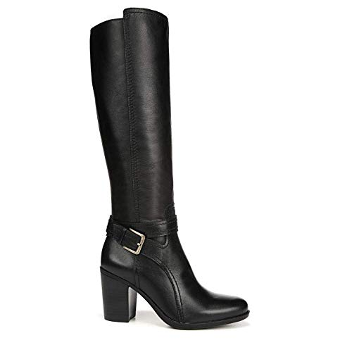 Naturalizer Women's Kelsey Wide Calf Black Leather 9.5 M -