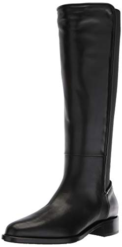 Aquatalia Women's NASTIA Calf/Elastic Fashion Boot, Black, 5.5 M US