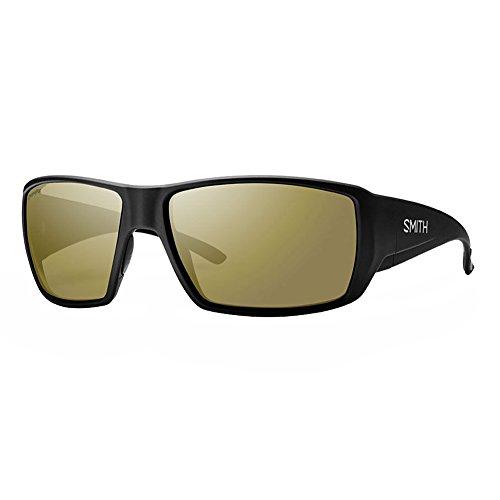 Smith Guides Choice ChromaPop+ Polarized Sunglasses, Matte Black, Bronze Mirror - Sunglasses Guide Fit