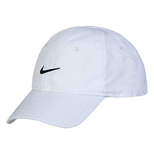 (NIKE Children's Apparel Kids' Little Classic Ripstop Basball Hat, White, O/S)
