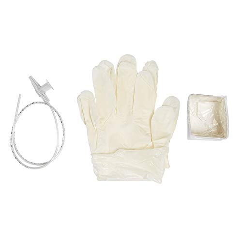 MediChoice Suction Catheter Kits, w/Gloves and Solution Container, Sterile, DeLee Tip 10 French, 16 Inch, Polyvinyl Chloride, Pediatric, 1314RSC10KD (Case of - Delee Suction Catheter