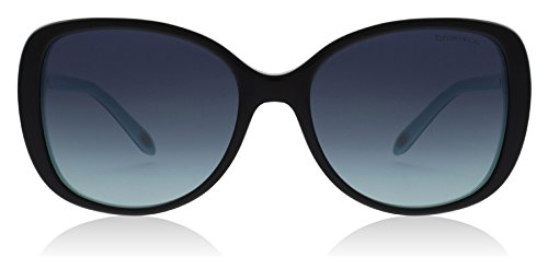 Tiffany TF4121B 80559S Black / Blue TF4121B Butterfly Sunglasses Lens - Tiffany Butterfly Sunglasses