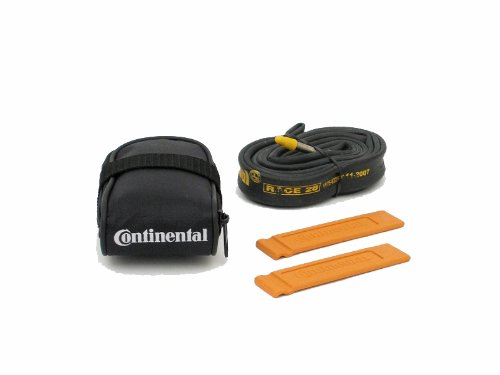 Continental Race Saddle Bag Complete with Inner Tube and 2 Tyre Levers Saddle Bag Black, 12 cm