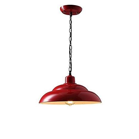 Retro Lámpara de techo Lámpara de techo Juego de lámparas Sala de estar, Jardín también Restaurante y Bar (Rojo) Lámpara colgante Iluminación ...
