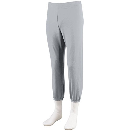 Augusta Sportswear BOYS' PULL-UP BASEBALL PANT S Silver - Pants Elastic No Baseball With