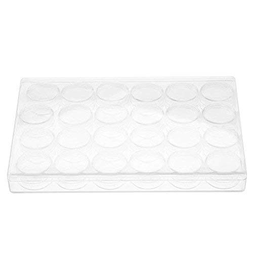 Hilitand Rectángulo de Cuentas de Joyas de plástico Transparente Anillo de Caja de Almacenamiento Organizador Caja de...