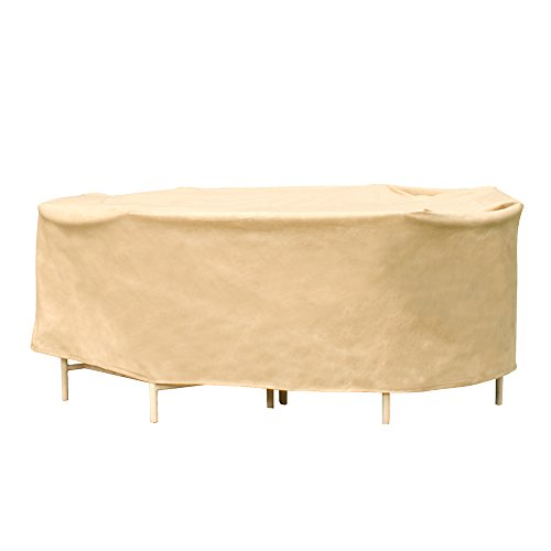 EmpirePatio Small Oval Table and Chairs Combo Covers - Nutmeg