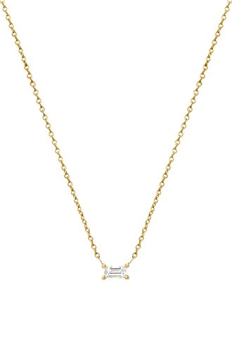 Diamond baguette necklace 0.12ct. prong setting