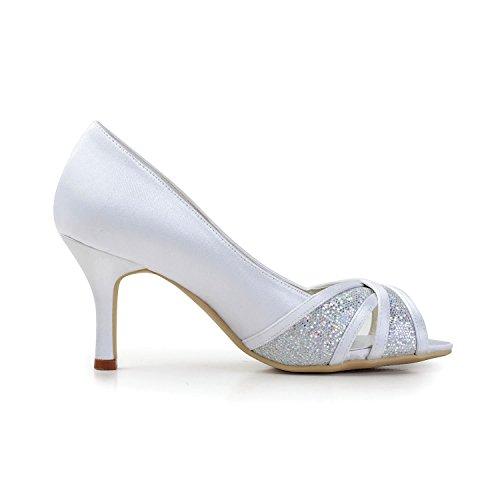 Heel 35 Bianco Donna 8cm Col white Eu Tacco Scarpe Minitoo wqn0Zvaf