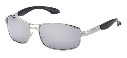 Argenté Lunettes de verspiegelte Modern Gläser Rahmen soleil silberner Subke Line 8015 1xw6YY