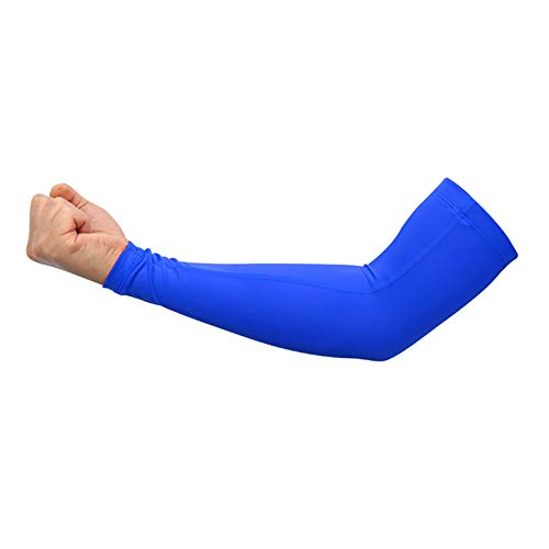 XNWH Men's 1 PairBasketball Lengthen Arm Sleeves Guard Sports Safety Protection Elbow Pads Arm Warmers Indoor Basketball ()