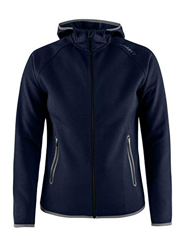 Navy Donna Scuro Cappuccio E Con Cerniera Craft Felpa Da Emotion Ax0wUURq8