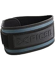 PICSIL gewichthefriem, lendensteun, ideaal voor squats, clean, lunges, deadlift, thrusters, aanpasbare riem met ruimte voor kussens, comfortabele taille