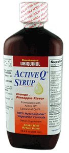 Active-Q Syrup 100mg Liposomal Ubiquinol (as Kaneka Ubiquinol) Coenzyme Q10 per 5ml (500 ml bottle) by Tishcon