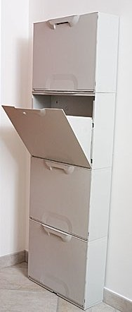 Scarpiere Componibili In Plastica.Grecoshop Scarpiera Componibile In Resina Da 4 Moduli Unika