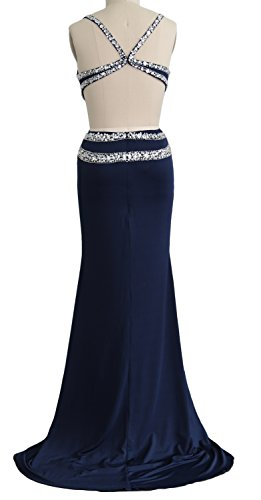 Women Gown Dress Evening Long Mermaid V Neck Prom Party Schwarz Formal MACloth Jersey dwAxPdH