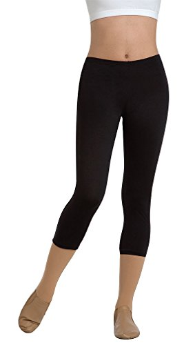 Body Wrappers Crop Pant - Body Wrappers Prowear Crop Pants, Black, 8-10