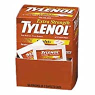 Tylenol Extra Strength Acetaminophen Individually Wrapped Medication, 50 Doses of Two Tablets, 500mg