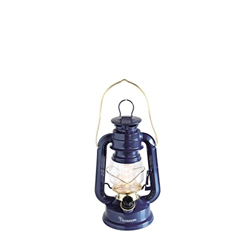 Time Concept Vacances Standard LED Lantern - Battery-Operated, Warm Light - Navy Lamp by Time Concept