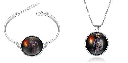 [Gnzoe Jewelry Set Halloween Jewelry Accessories Glow in the Dark Bangle Bracelet for Men Women 6-8