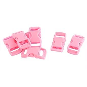 Amazon.com: eDealMax plástico del lanzamiento lateral hebillas de las correas 11mm Correa 7Pcs rosa: Industrial & Scientific