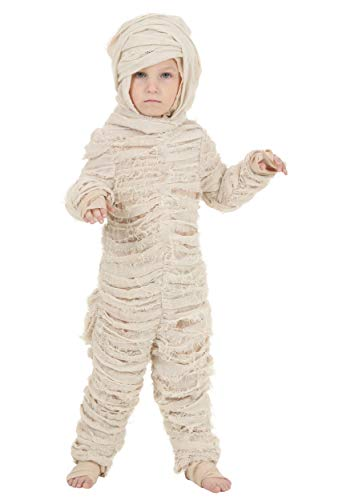 Toddler Mummy Costume 4T White -
