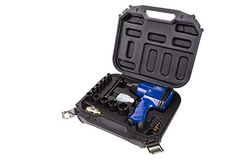 FORD TOOLS 16pc Air Impact Wrench Kit in Blow Molded Case inc Impact Sockets