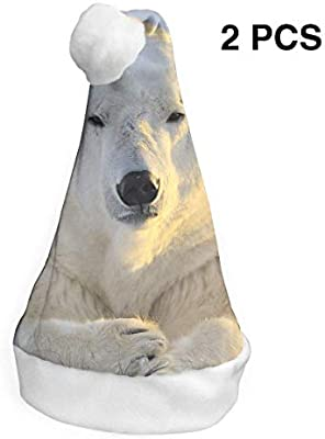 Santa Claus - Gorro de Navidad, diseño de oso polar, para adultos ...