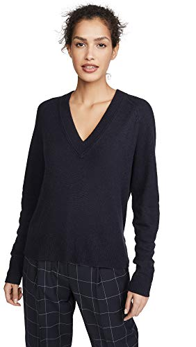 Equipment Women's Madalene V-Neck Sweater, Eclipse, Medium