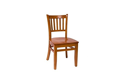 BFM Delran Slat Back Chair Cherry Cherry Wood Seat Model Lwc102Chchw by BFM Seating (Image #1)