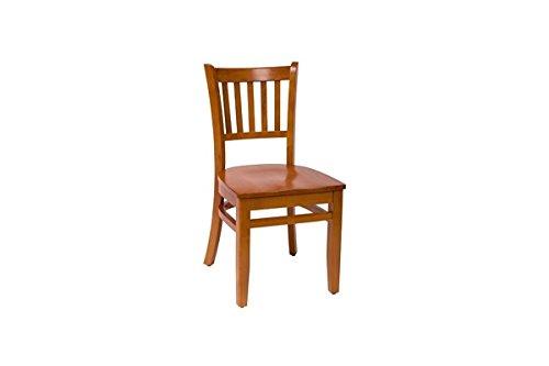 BFM Delran Slat Back Chair Cherry Cherry Wood Seat Model Lwc102Chchw