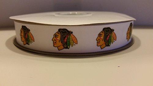 Chicago Hockey Grosgrain Ribbon -