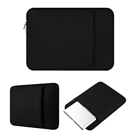 TYewa98556 Laptop Sleeve Case Carry Bag Notebook Protective Cover Soft Laptop Caselaptop with Zipper Protection Cover with Handle Waterproof Case Black for 15.6