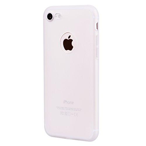 Funda iPhone 8, Funda iPhone 7, E-Lush Suave Silicona TPU Carcasa Ultra Delgado Flexible Gel Parachoques Goma Mate Opaco Case Cover Amortigua Golpes Protectiva Caso para iPhone 7 / 8 (4.7 Pulgadas) Sm Blanco