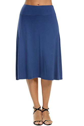 Meaneor Womens Stretch Fold Over Length