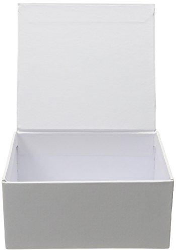Darice 2406-92 Ready to Decorate School Box - White - School Box ()