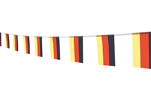 German Flag Germany Flag,100Feet/76Pcs National Country Banner Flags,Party Decorations Supplies For Olympics,Bar,Sports Events,International Festival