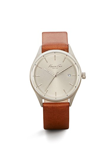 Kenneth Cole New York Women's 'Classic' Quartz Stainless Steel and Brown Leather Dress Watch (Model: 10026626)