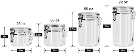 home, kitchen, kitchen, dining, storage, organization, food storage,  food storage, organization sets 3 discount Oggi 4-Piece Acrylic Canister Set with Airtight promotion
