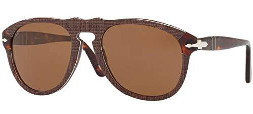 Persol PO 0649 BROWN PRINCE OF WALES/BROWN 52/20/135 unisex Sunglasses (52 20)