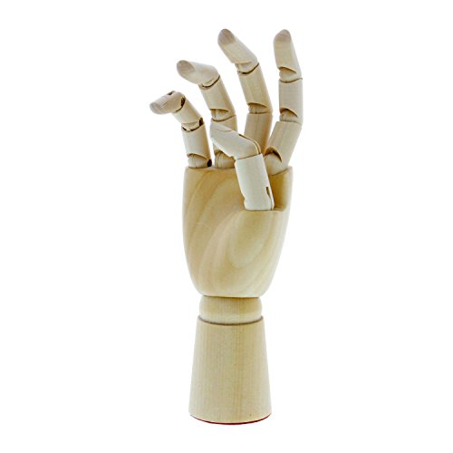 US Art Supply Wood Artist Drawing Manikin Articulated Mannequin with Wooden Flexible Fingers - Perfect for drawing the human hand (7'' Right Hand) by US Art Supply