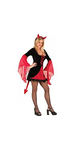 Sweet Devil Costumes (Sweet & Sexy Devil - Adult Halloween Costume - Medium / Large (8-14))
