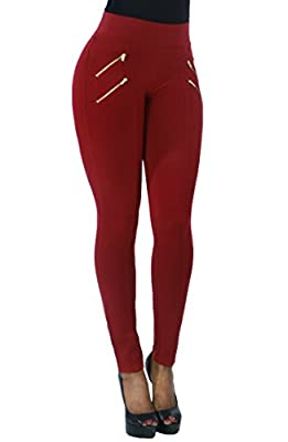 Zipper Design Stretchy and Comfortable Fashion Leggings Pants for Women