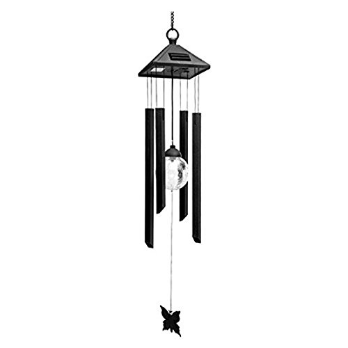 Briday Wind Chime Shaped Solar Landscape Lamp Led Hanging Light Outdoor Garden Room Wall Holiday Night Decoration Lamp Solar Fld Light